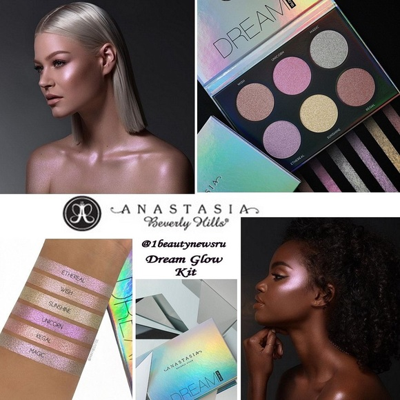 Anastasia Beverly Hills Other - Anastasia DREAM andAURORA Highlight Palettes&Brush